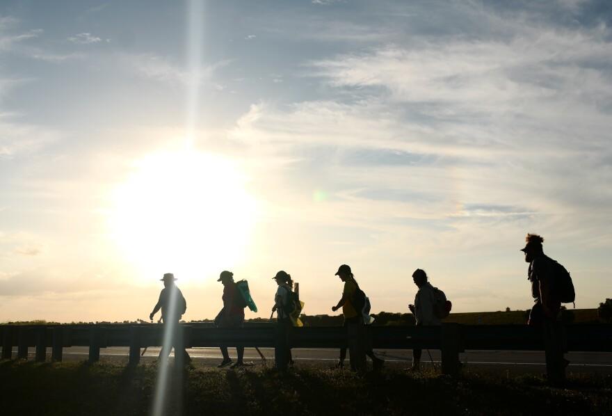 Prayer walk for the Everglades.