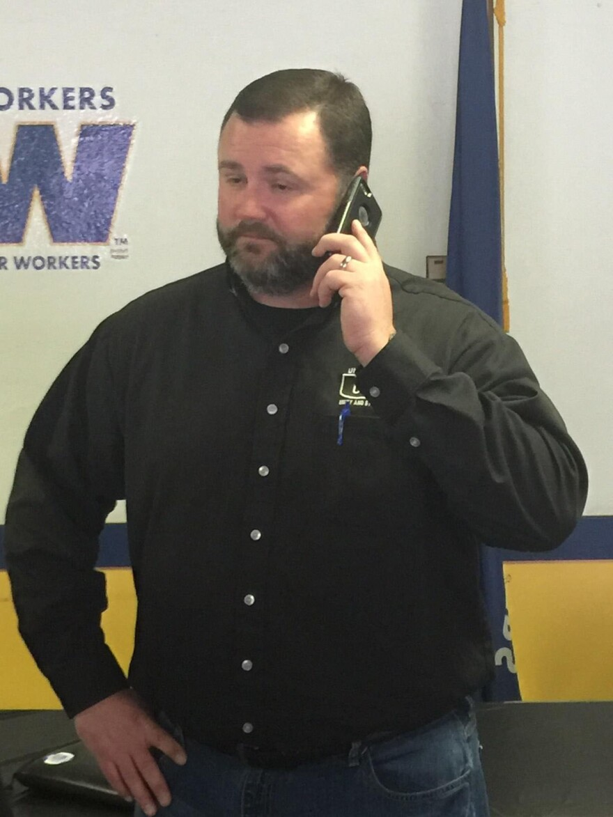 United Steelworkers Local 50 President Jason Chism after a news conference in Granite City in Feb. 2016.
