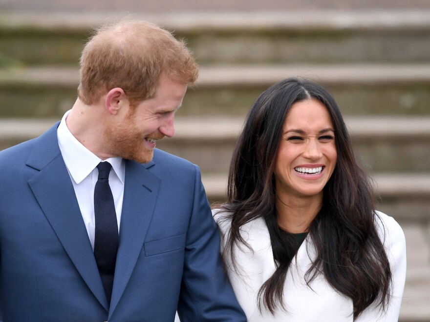 Prince Harry and Meghan Markle announce their engagement at Kensington Palace in London on Monday. The two are due to marry in spring 2018.