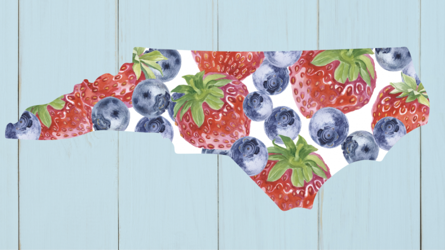 North Carolina's red berry and blue berry.