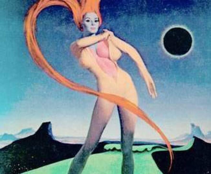 "The original paperback cover for Joanna Russ' 1975 novel <em>The Female Man </em>(detail above) called the book ""startling."""