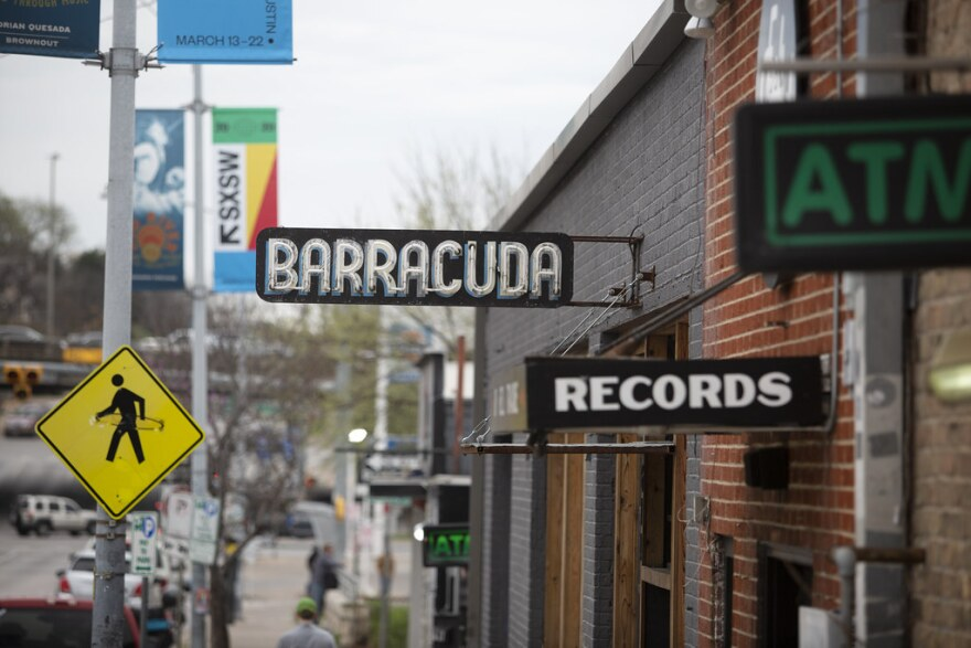 Barracuda, one of several Austin live music venues that have permanently closed as a result of COVID-19, just after the cancellation of SXSW.