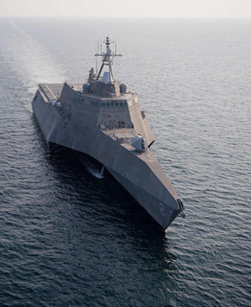 Littoral Combat Ship similar to those housed at Mayport Naval Air Station
