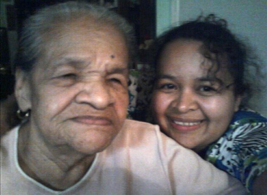 Maria Hernandez with her granddaughter Raquel.