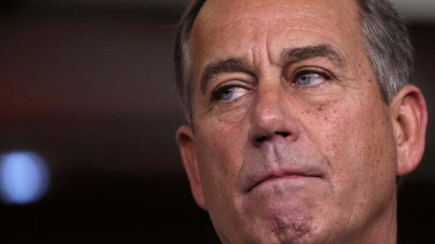 House Speaker John Boehner speaks at a press conference Friday on Capitol Hill.