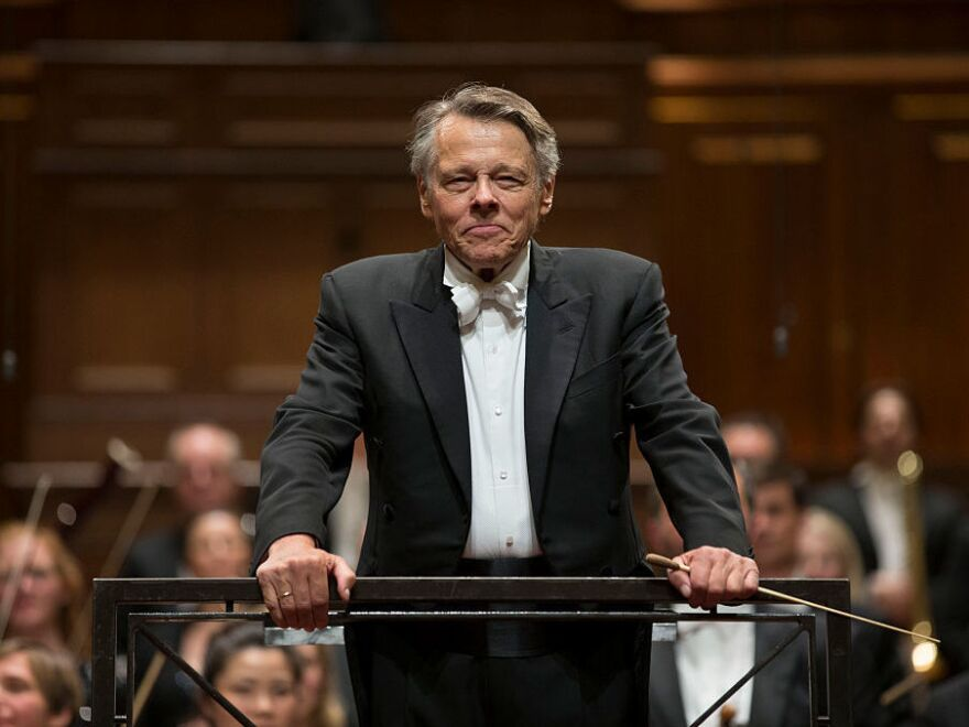 Mariss Jansons at his final concert with the Royal Concertgebouw Orchestra in Amsterdam in 2015.