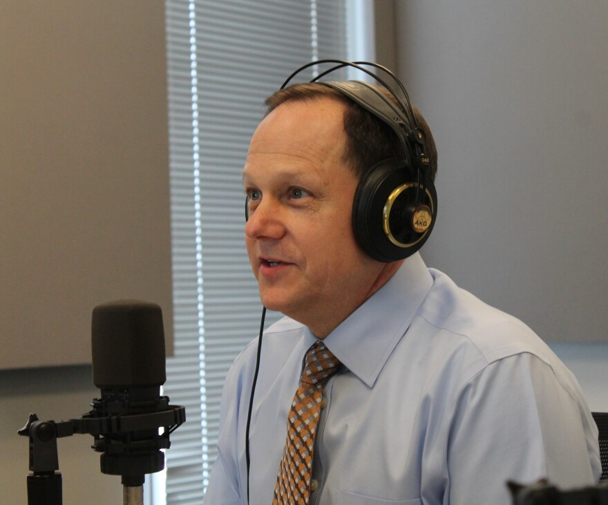 St. Louis Mayor Francis Slay last week at St. Louis Public Radio's studios.