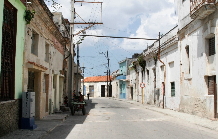 In Regla, many people don't have money for cars. If they do have cars, they don't have money for gas, so the streets are mostly desolate.