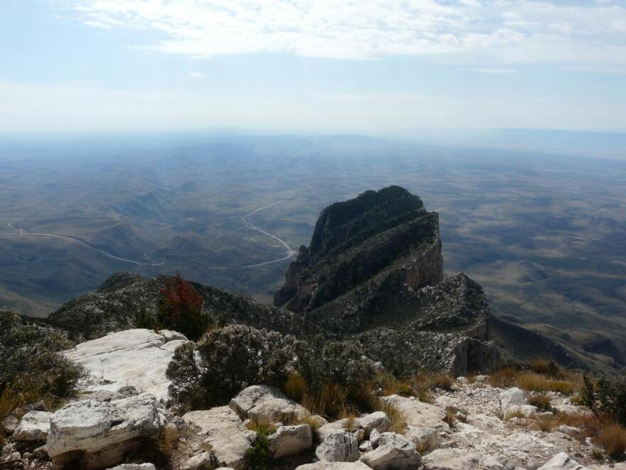 Guadalupe Peak in Guadalupe Mountains National Park is the highest point in Texas at with an elevation of 8,751 feet above sea level.
