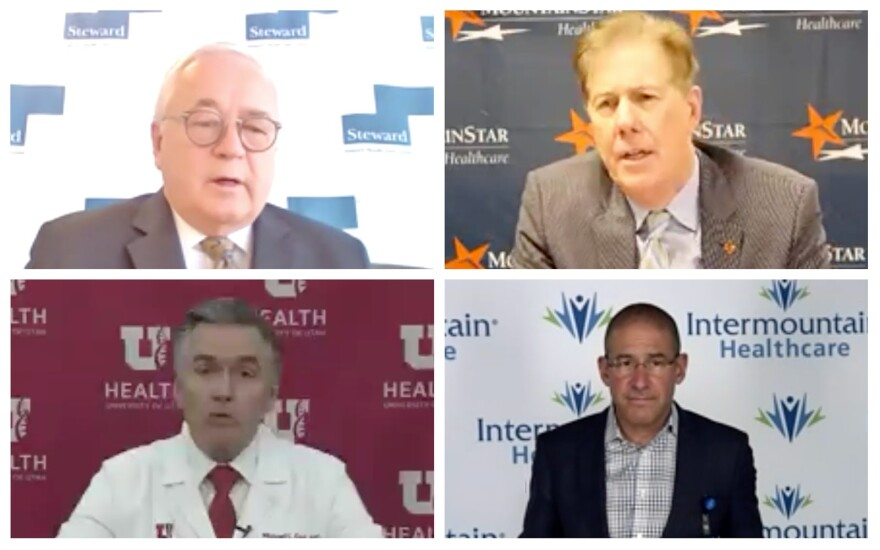 A 4-photo collage of the hospital leaders.