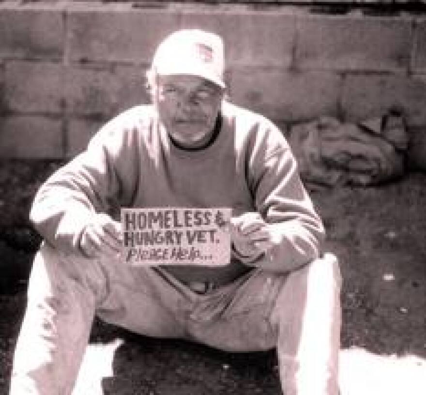 photo of homeless veteran
