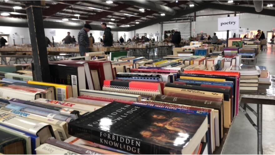 tables of books at Dayton Book Fair