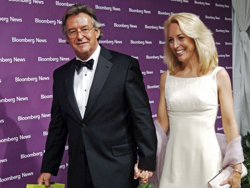 In this 2006 photo, Ambassador Joe Wilson and Valerie Plame leave an after party for The White House Correspondents' Dinner at the Macedonian Embassy in Washington, D.C.