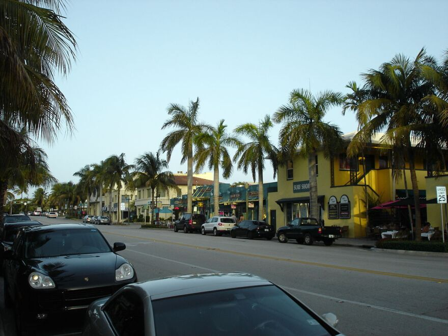"""Atlantic Avenue, the main thoroughfare in Delray Beach, Florida. """"You sit on Atlantic, you watch the Lamborghinis and the Bugattis go by."""" Addiction counselor Harold Jonas describes how local sober home operators profit from addicts in treatment."""