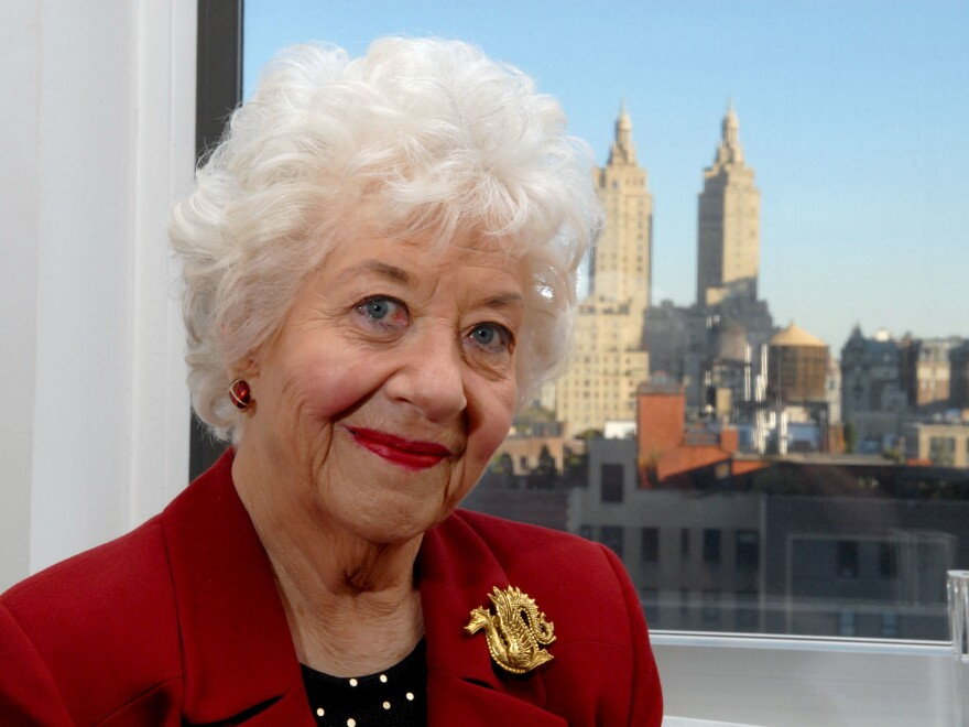 Actor Charlotte Rae poses in her New York apartment in 2006.