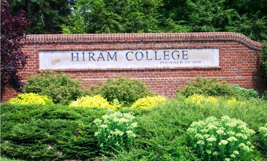 photo of Hiram College entrance