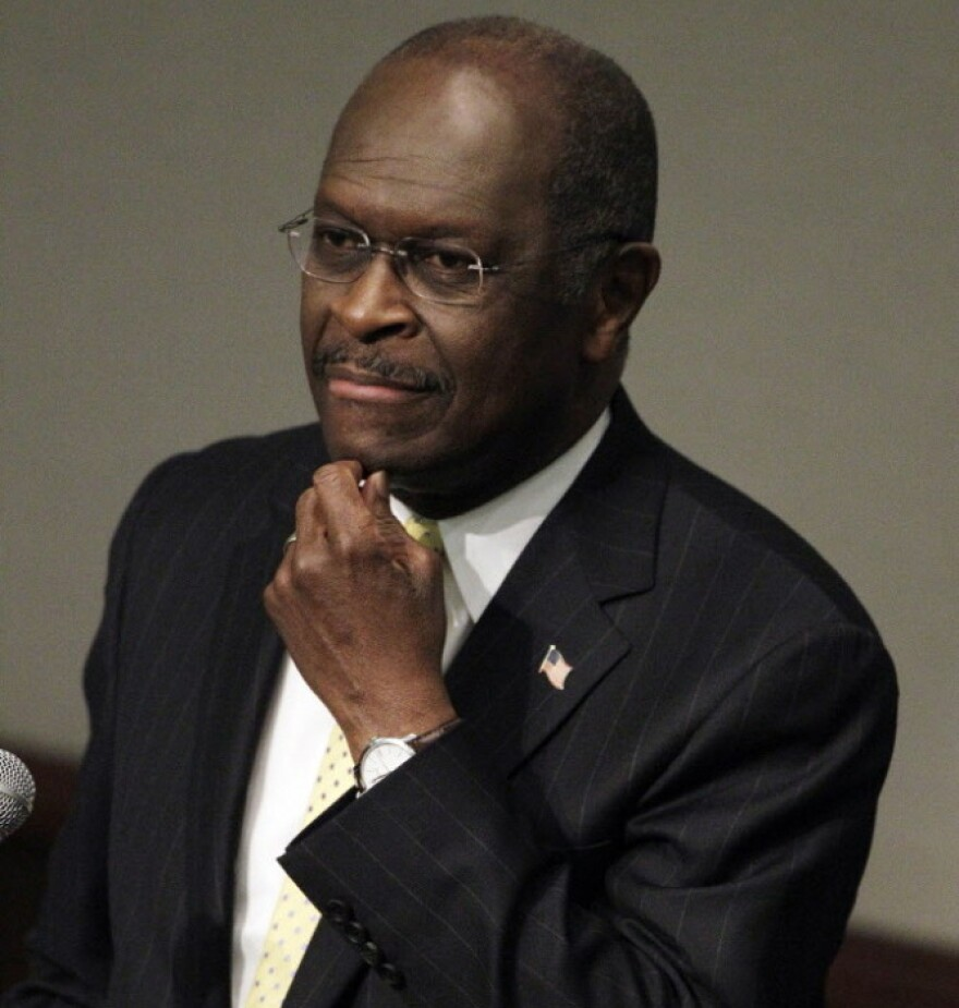 Republican presidential candidate Herman Cain on Thursday in Murfreesboro, Tenn.