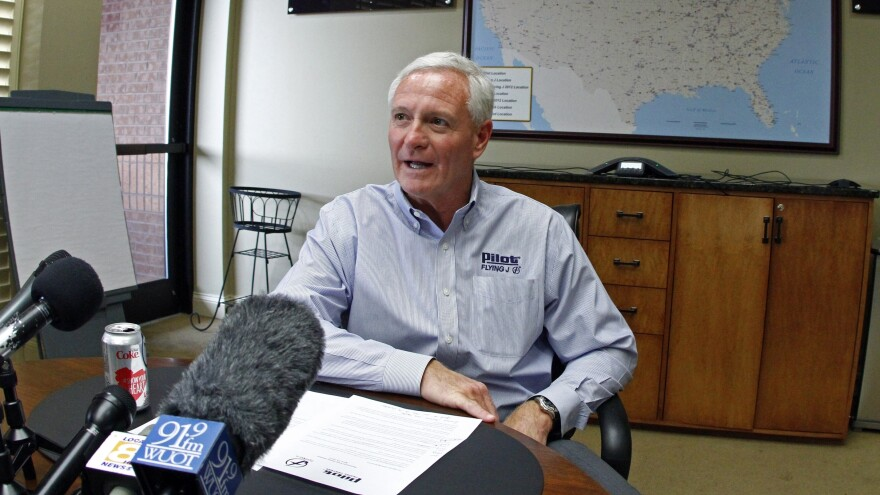 Jimmy Haslam, CEO of Pilot Flying J, discusses accusations of rebate fraud, in April. Today, Haslam said that an audit found problems with only a small number of the company's customers' accounts.