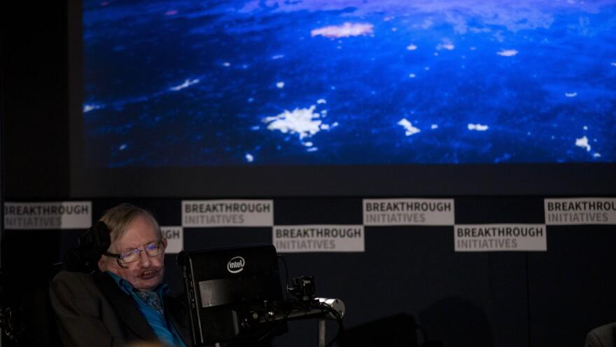 Stephen Hawking at The Royal Society on Monday.