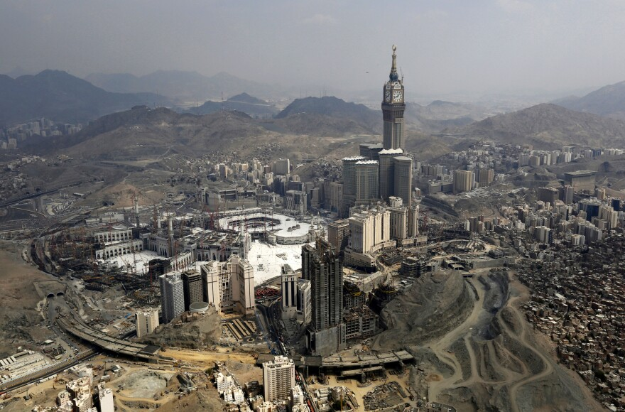 An aerial view of the Grand Mosque in the holy city of Mecca in October 2014.