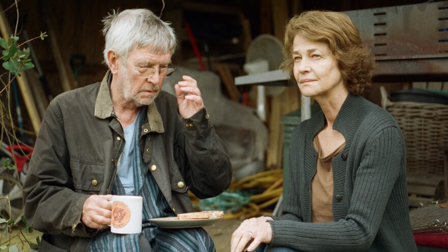 Tom Courtenay and Charlotte Rampling are a long-married couple unsettled by a revelation from his past in <em>45 Years.</em>