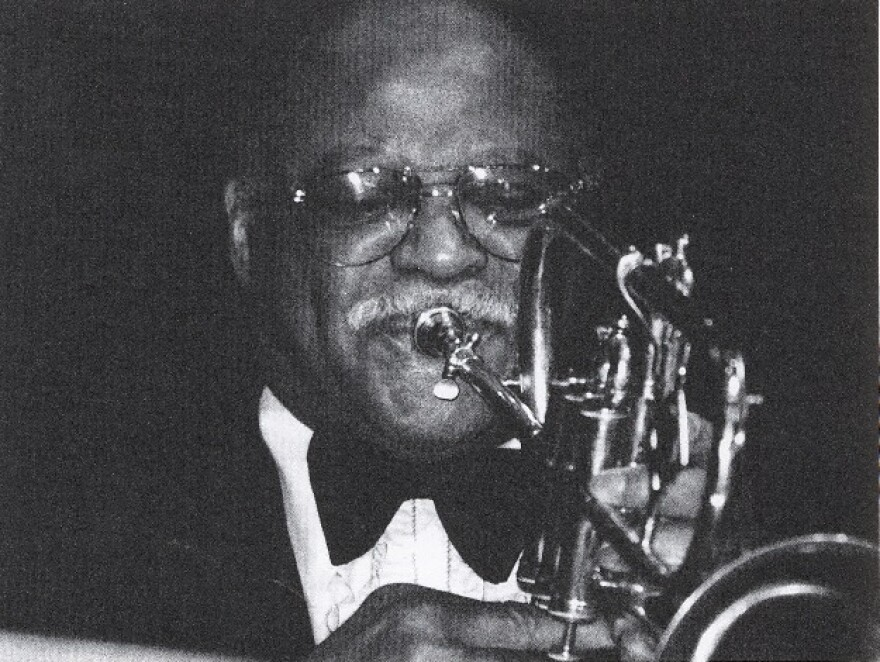 Clark Terry still played his horn upside down in the late 1980s.