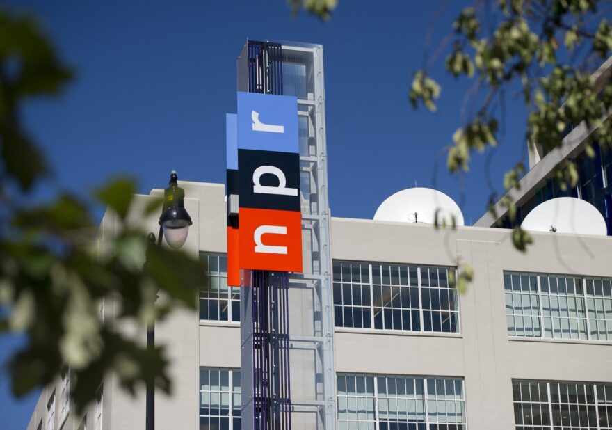 The headquarters for National Public Radio, or NPR, are seen in Washington, DC.