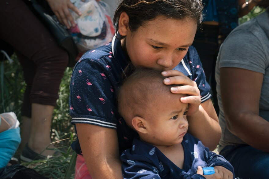 Davi Tatiana Chirino-Santos, 9, and her baby brother, Arnold Jafer Lopez-Santos, crossed the U.S.-Mexico border with their mother, Jessica Carolina Santos Lopez. Though the journey was long, Chirino-Santos is looking forward to creating a better life in the U.S. She wants to study to be a doctor.