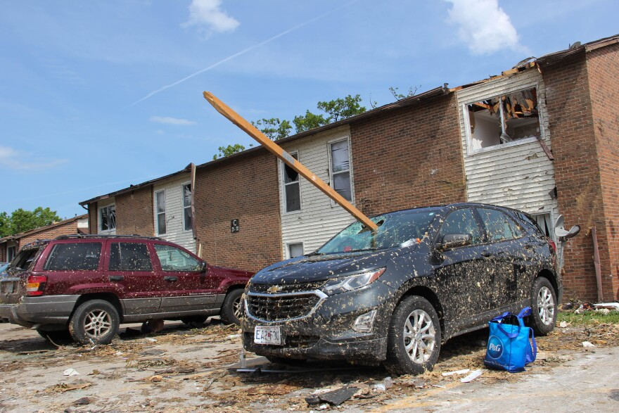 Engineering researchers noted damages caused by the tornado and by debris that flew because of strong winds.