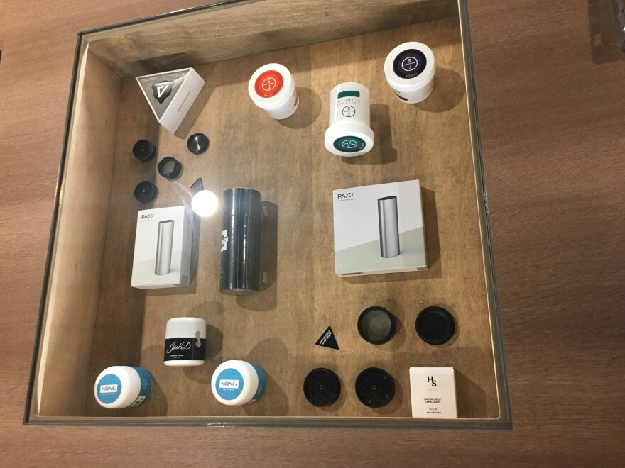 a photo of medical marijuana products