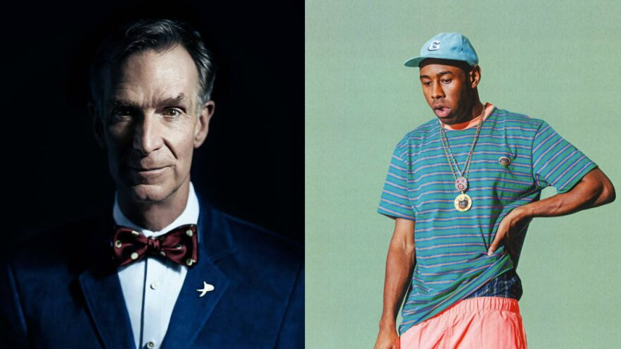 Bill Nye (left) and Tyler, the Creator collaborate for the sake of science.