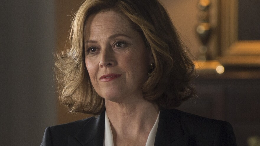 In <em>Political Animals, </em>Sigourney Weaver plays Elaine Barrish, the current secretary of state and a former first lady.