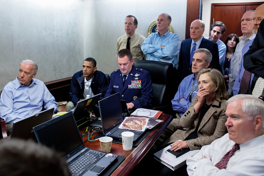 Obama and his national security team monitor the raid that resulted in the death of Osama bin Laden on May 1, 2011.