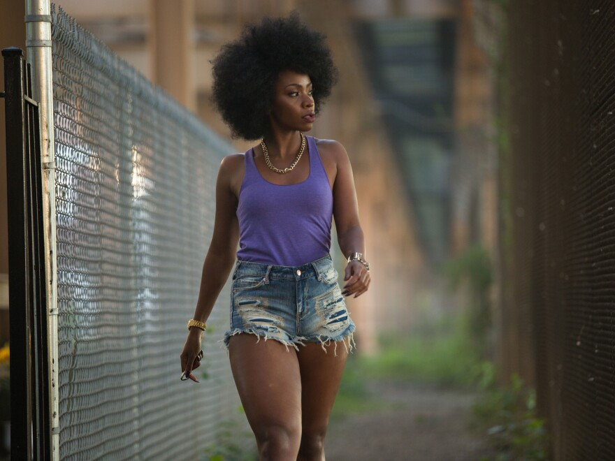 "Teyonah Parris plays Lysistrata in Spike Lee's ""Chi-Raq."""