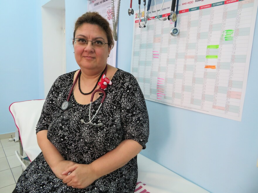 """Dr. Sandra Alexiu, who has a family practice in the town of Jilava near Bucharest, tells patients her own son is vaccinated. """"There is a lot of fake doctors and fake news on vaccination,"""" she says. """"We have to answer every myth."""""""