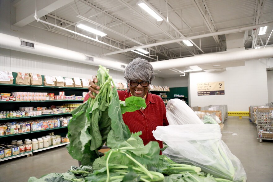 Dorothy Boddie runs the outreach ministry at Allen Chapel AME, one of the Capital Area Food Bank's nonprofit partners. The D.C.-area food bank is part of a growing trend to move toward healthier options in food assistance, because many in the population it serves suffer from high blood pressure and diabetes.