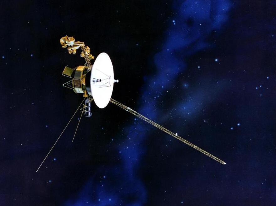 NASA's Voyager spacecraft, seen in this artist's rendering, runs on plutonium-238. It's the farthest man-made object from Earth NASA has ever sent out.
