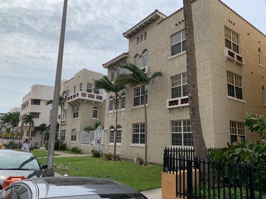 The Villa Maria affordable housing building in Miami Beach