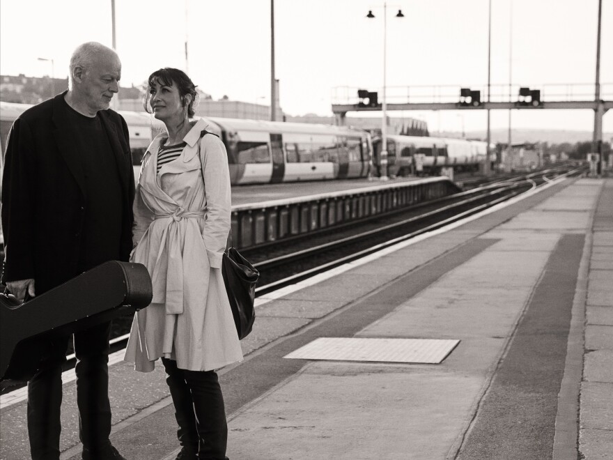 David Gilmour (left) and Polly Samson, who have been married since 1994 and have collaborated on songs for albums by Gilmour and Pink Floyd.