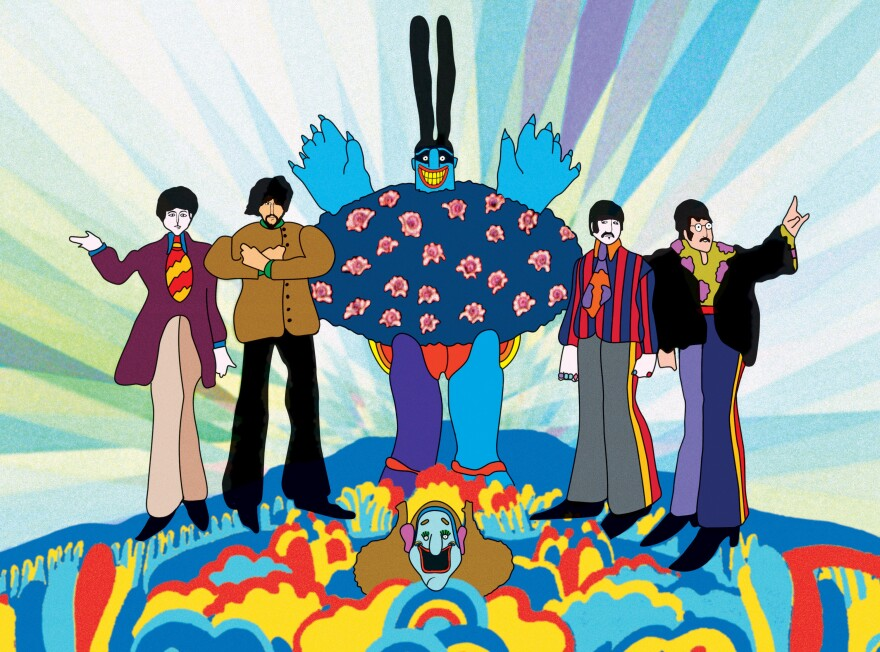 "The 1968 release of The Beatles' <em>Yellow Submarine</em> film influenced fashion, graphic design, music — and even a short-lived organization of ""submarine churches"" based on the gospel of Lennon and McCartney: ""All You Need Is Love."""