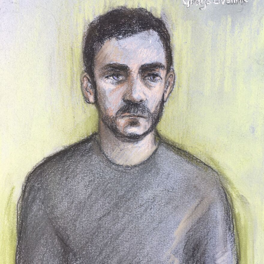 Maurice Robinson, 25, seen in a courtroom sketch last month. The truck driver pleaded guilty Monday to two charges related to the deaths of 39 migrants — but he still faces dozens more charges.