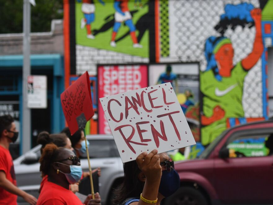 The New York Legislature approved a moratorium on evictions until May 1 as many New Yorkers, who lost their jobs to the pandemic, struggle to pay rent. Protestors urged lawmakers to ban evictions for several months.