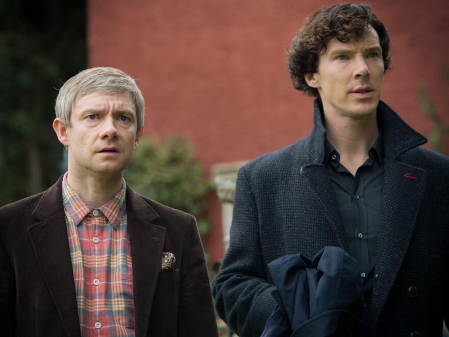 Cumberbatch (right) stars alongside Martin Freeman in <em>Sherlock</em>. They also appear together in the <em>Hobbit</em> film series.