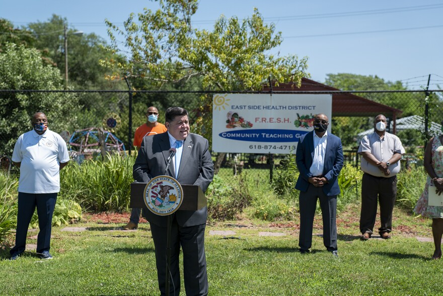 Illinois Gov. J.B. Pritzker urged Metro East residents to follow public health guidance after the state put new restrictions on businesses in the region. The new restrictions for bars, restaurants and social gatherings will be in place for at least 14 days.