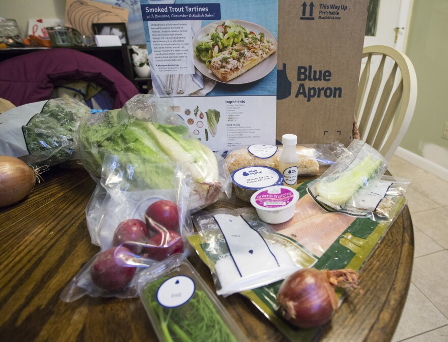 While it may seem that heaps of plastic from meal kit delivery services like Blue Apron make them less environmentally friendly than traditional grocery shopping, a new study says the kits actually produce less food waste.