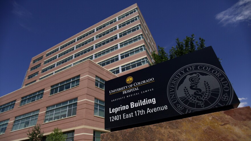 A medical building on the University of Colorado Anschutz Medical Campus in Aurora, Colo.