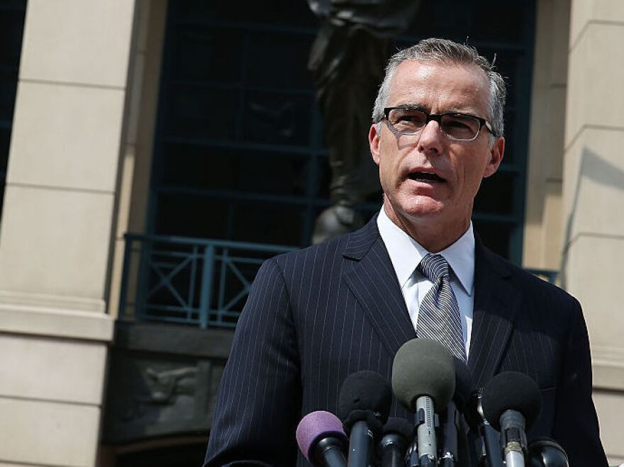 A grand jury in Washington, D.C., is looking into the case of former FBI Deputy Director Andrew McCabe, who was fired earlier this year after an internal watchdog investigation.