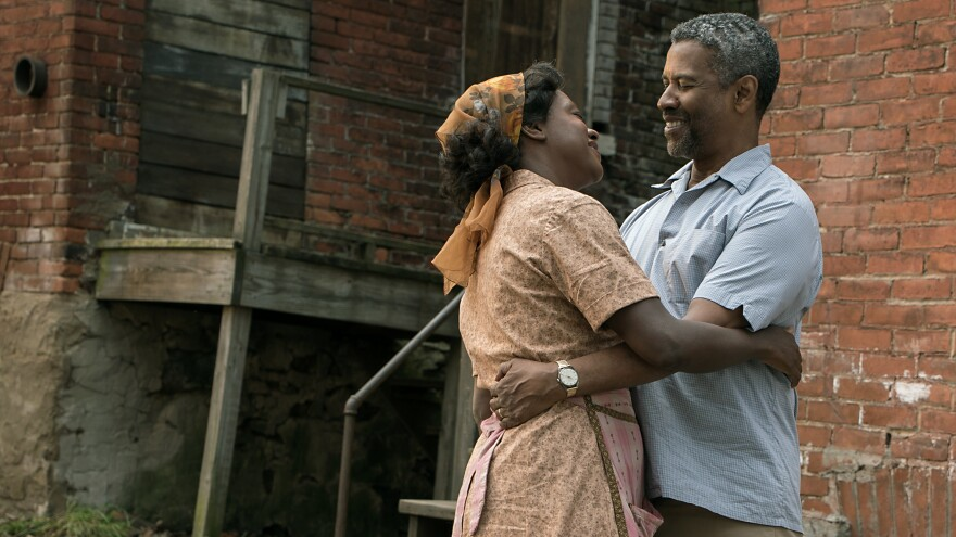 "Denzel Washington says his character, Troy, ""thinks he can control death and the devil, and he finds out in the worst way that he can't."" Washington stars alongside Viola Davis in <em>Fences</em>."