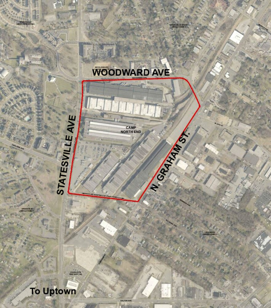 The 75-acre site is bounded by Statesville Avenue and Graham Street.