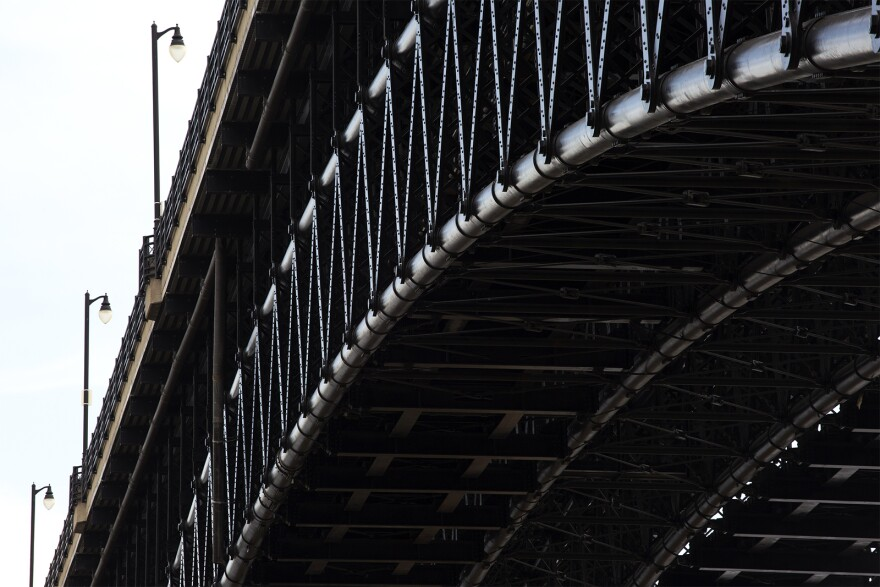 Renovating the Eads Bridge involved sandblasting nine coats off old paint off and replacing more than a million pounds of steel.